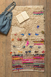 Shaggy Rag Rug with Sequins and Tufts