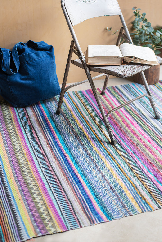 Mello Recycled Cotton Printed Rug