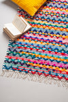 Recycled Cotton Diamond Weave Rug