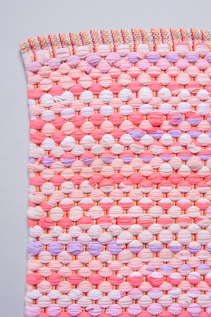 Recycled Cotton Pink Rug