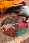 Abstract Figures with Leaves 100% Recycled Rug