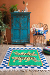 Green Abstract Double Tiger Rug