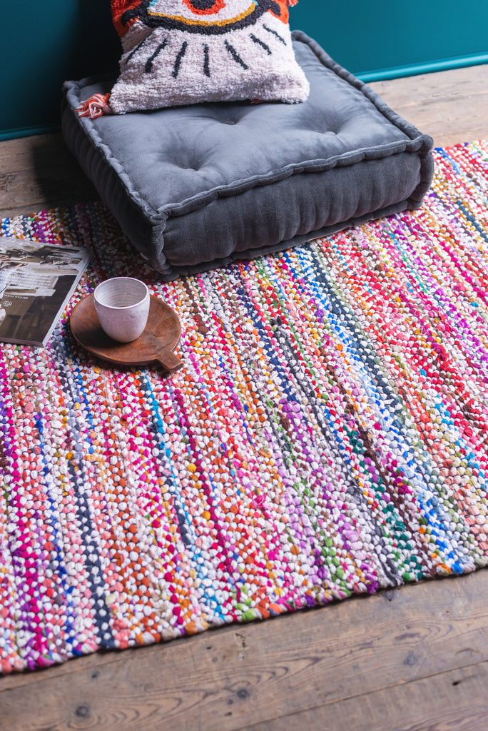 Multi-coloured Recycled Rug