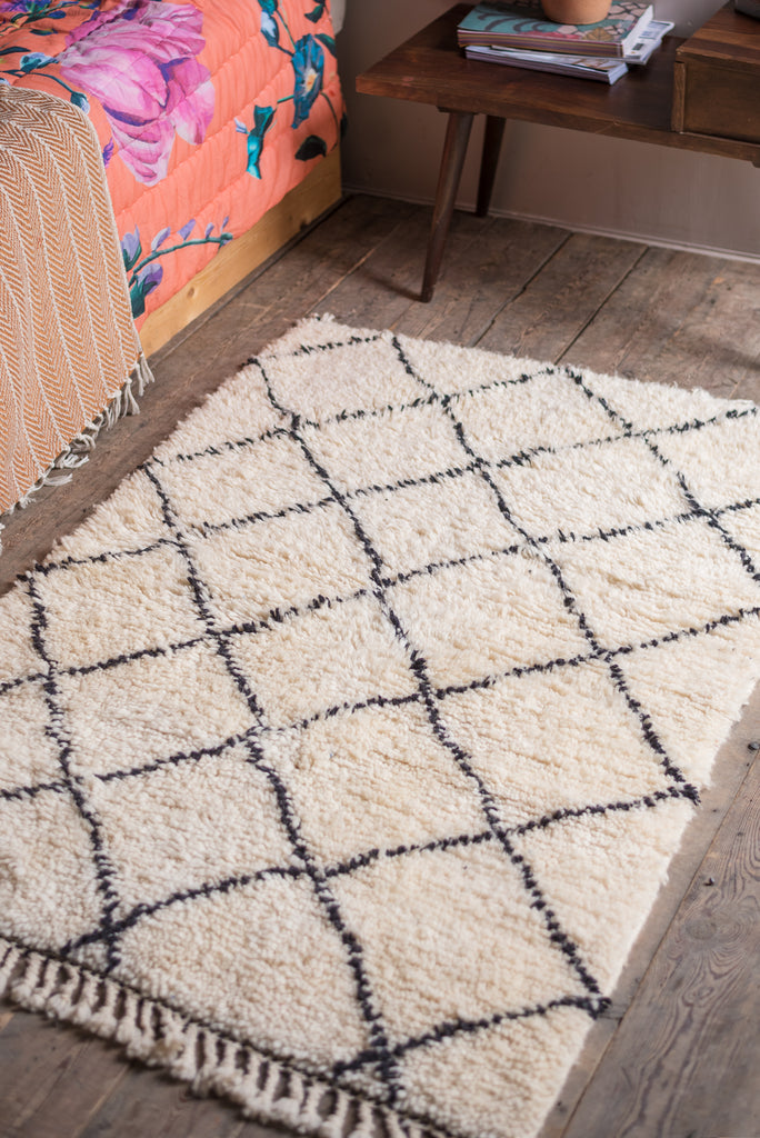 Beni Ourain 100% Wool Rug - Small