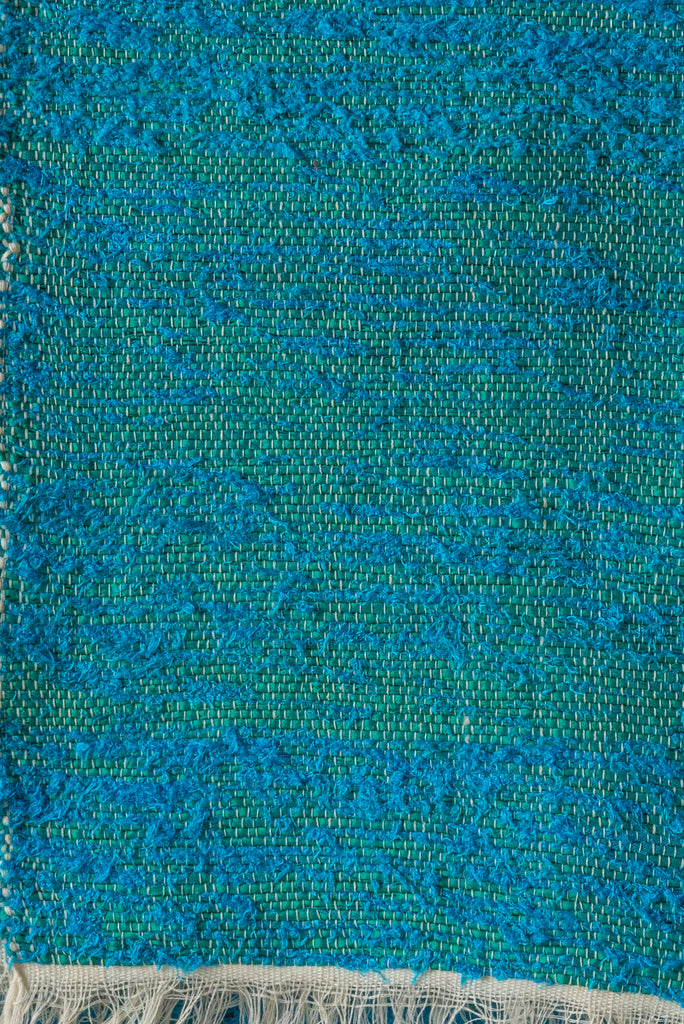 Turquoise 100% Recycled Textured Rug