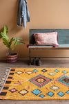 Tafsut Ochre 100% Recycled Large Cotton Rug