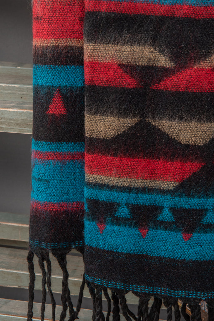 Dark Triangles Aztec Stole