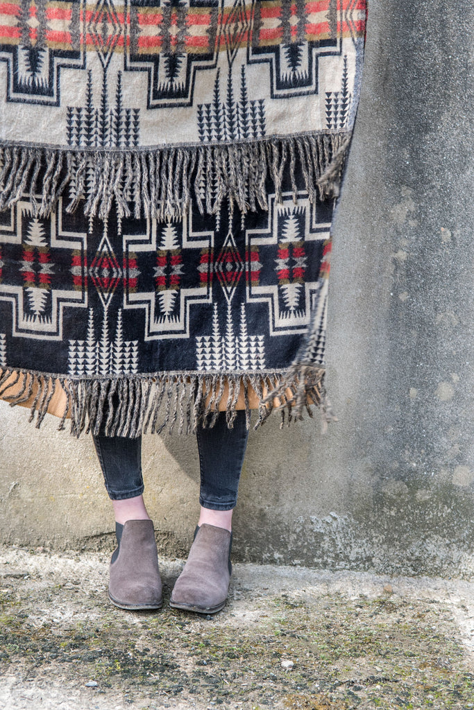 Black and Red Aztec Stole