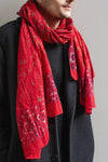 Red Mandala Cotton Scarf