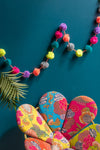 Pom Pom Garland in Neon Colours