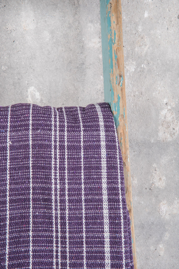Deep Purple Heavy Woven Throw