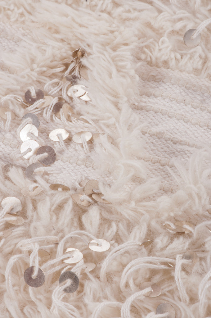 Natural Handira Heavy Throw with Sequins
