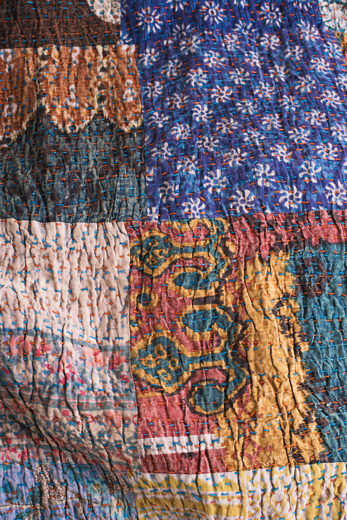 Lola Patchwork Kantha Bed Throw
