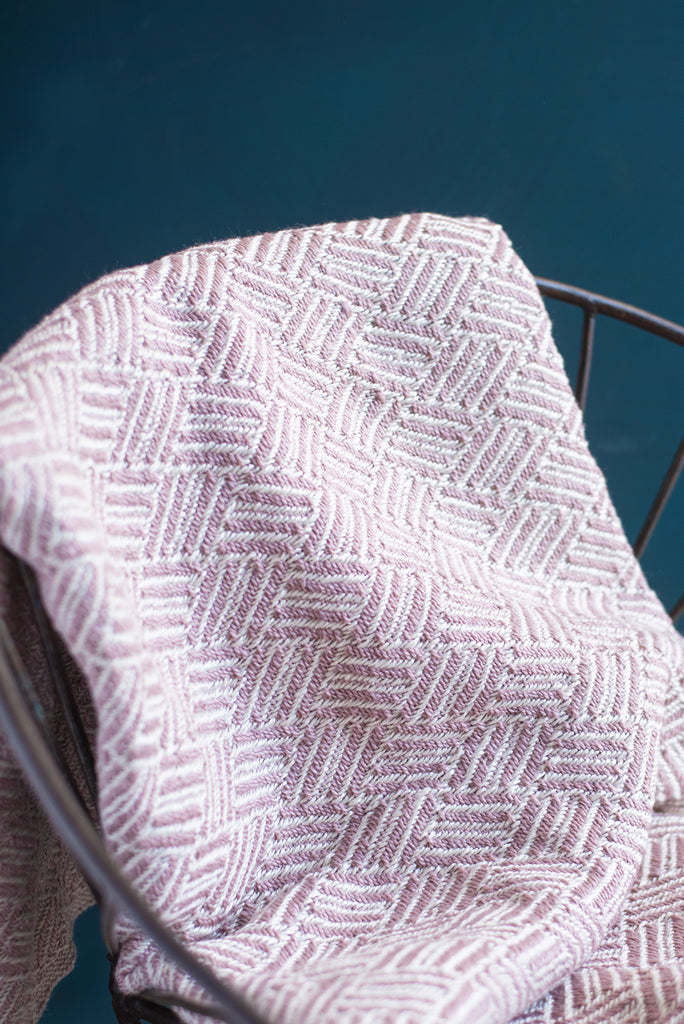 Recycled Plastic Pink Zig Zag Throw