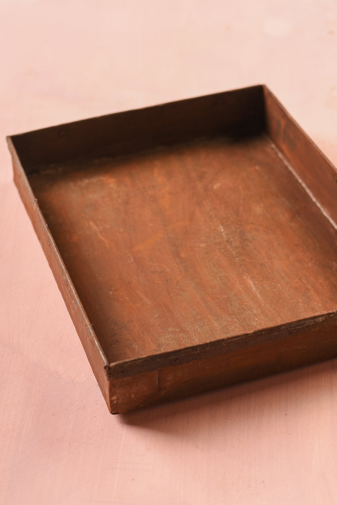 Rust Coloured Metal Tray