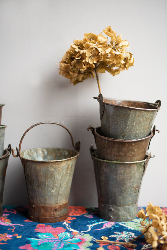 Set of Two Iron Buckets