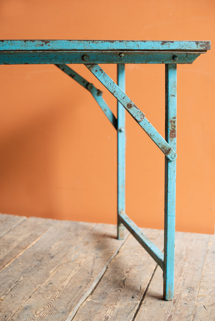 Vintage Blue Folding Table