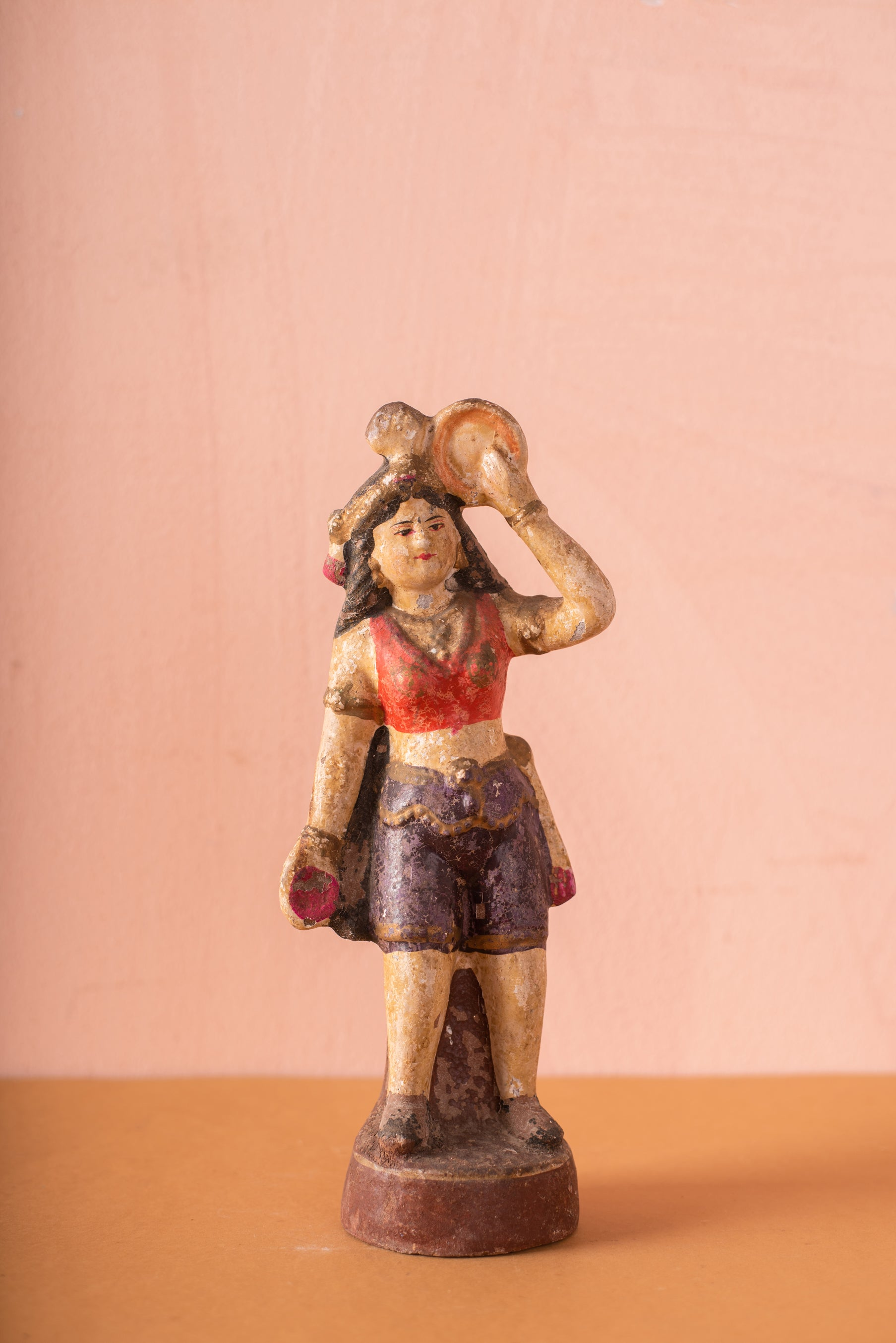 Vintage Indian Sacred Clay Statue - 90