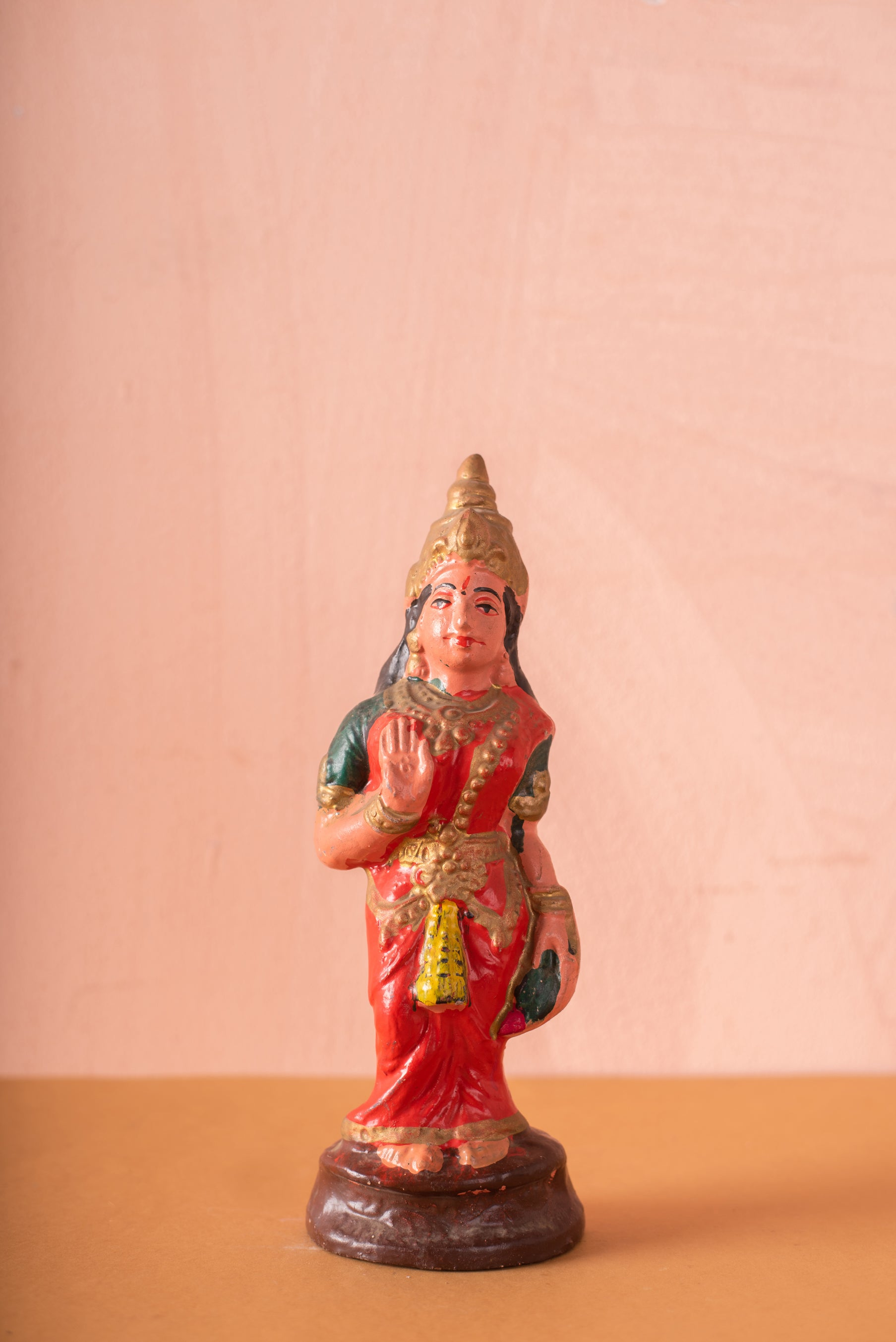 Vintage Indian Sacred Clay Statue - 95