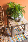 Vintage White Wooden Side Table