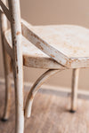 Vintage Cream Metal Chair