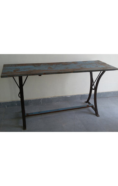 Vintage Iron & Wooden Table
