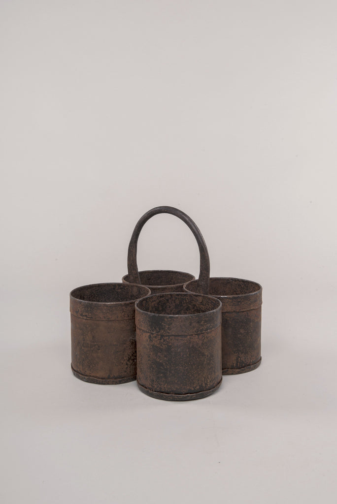 Vintage Iron Four-Block Spice Pot