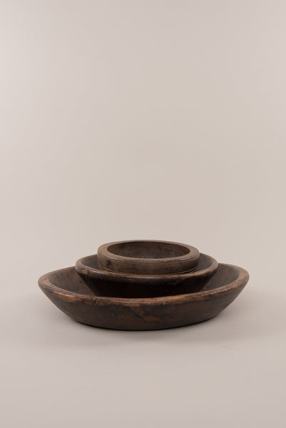 Chunky Vintage Wooden Bowl