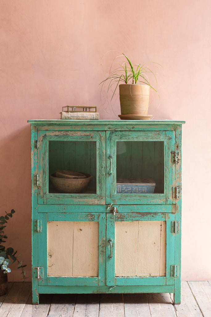 Vintage Pale Green & Cream Cabinet