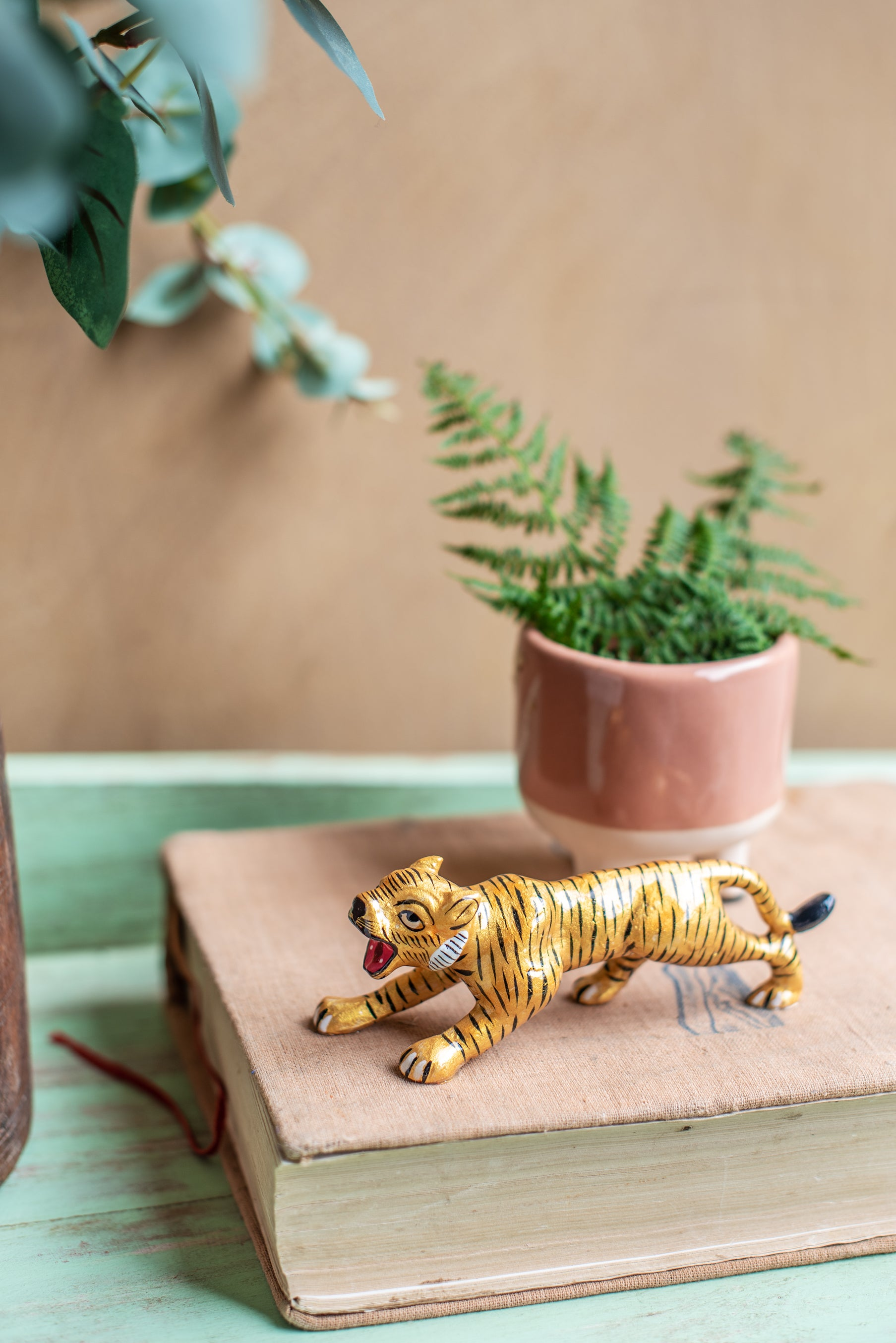 Enamelled Metal Tiger Ornament