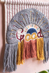 Life is Good Cotton Wall Hanging