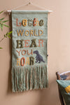 Roar Cotton Wall Hanging