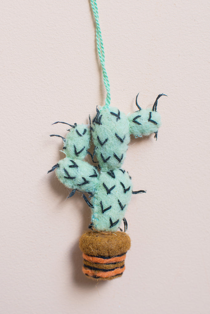 Felt Cactus Hanging Decoration with Spikes