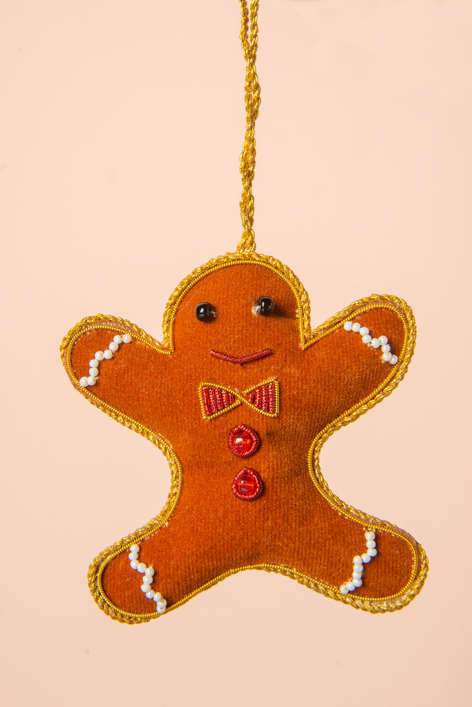 Hand Embellished Gingerbread Man Decoration