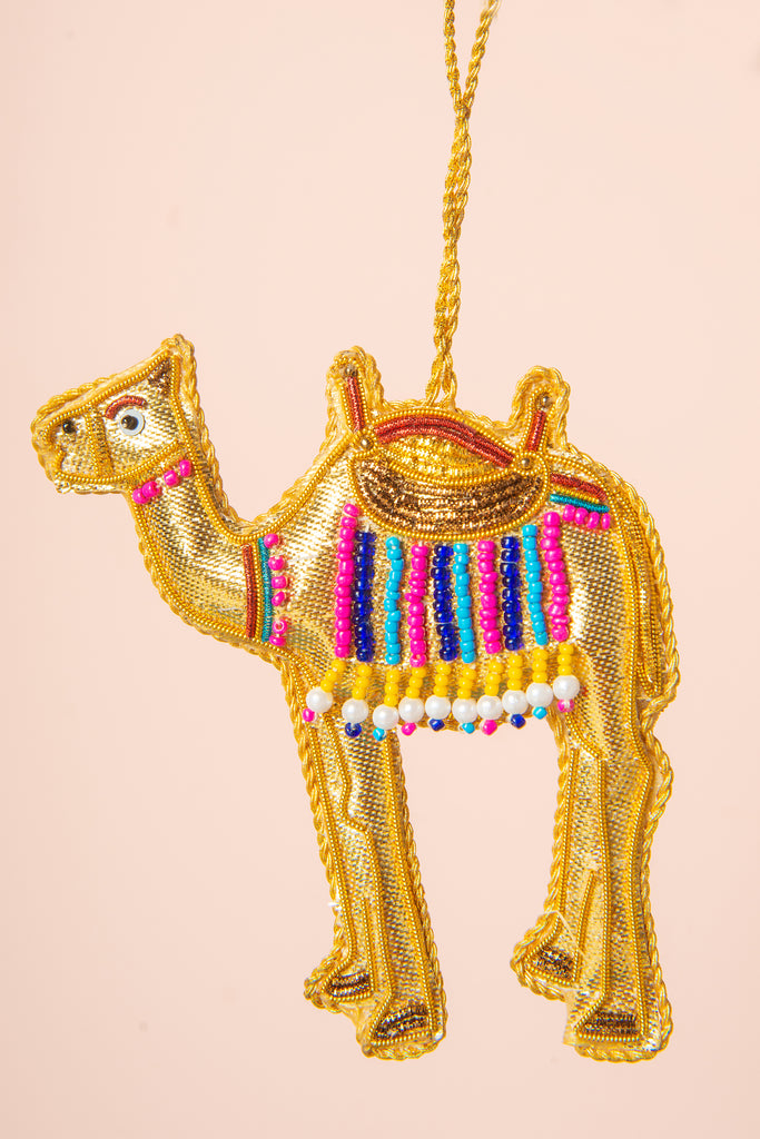 Hand Embellished Camel Decoration