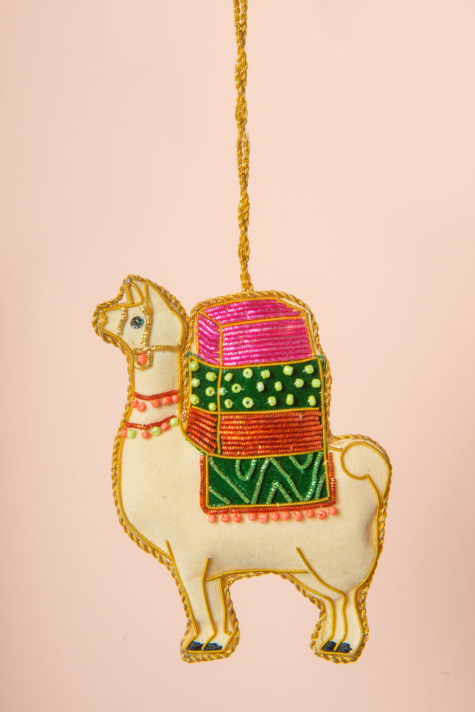 Hand Embellished Llama Decoration