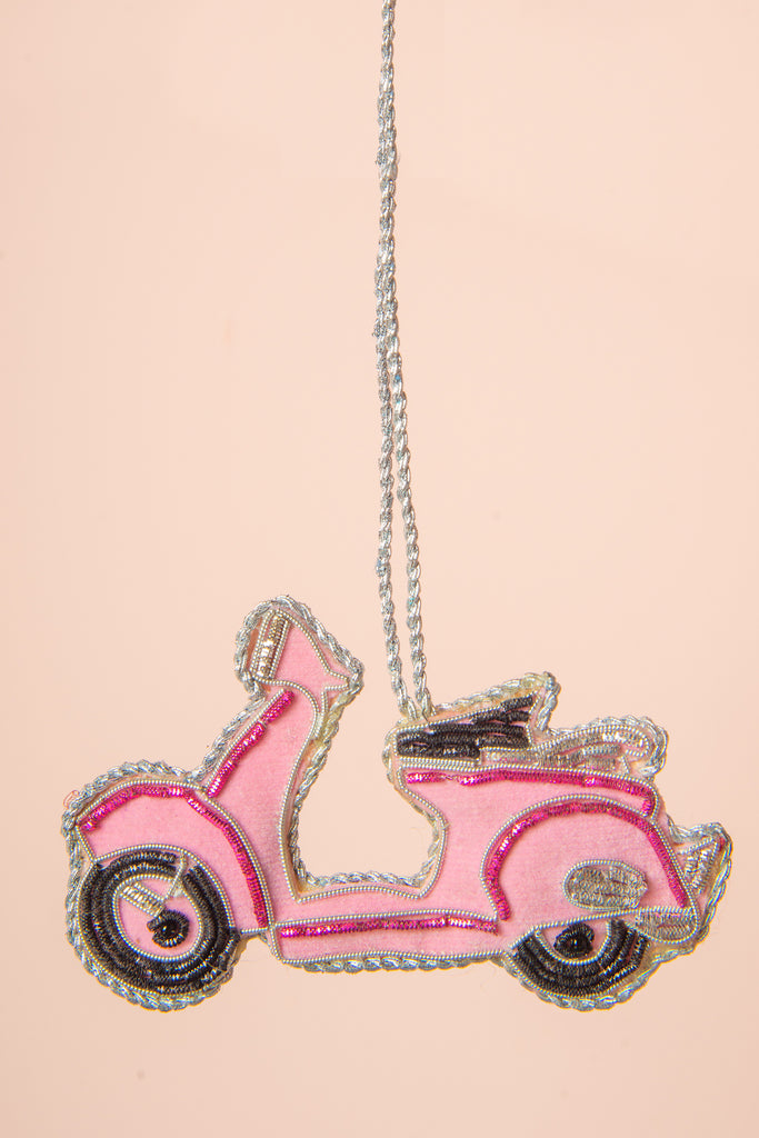 Hand Embellished Pink Scooter Decoration
