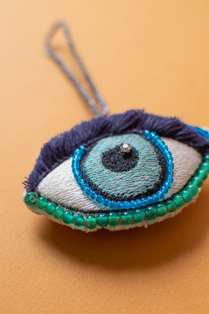 Embroidered Eye Hanging Ornament