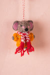 Felt Mouse in a Jumper Decoration