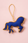 Plastic Free Blue Horse Decoration