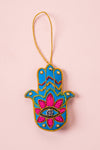 Plastic Free Blue Hamsa Decoration