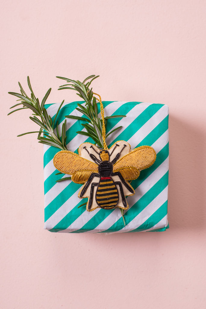 Honey Bee Plastic Free Outer/Recycled Plastic Filled Decoration