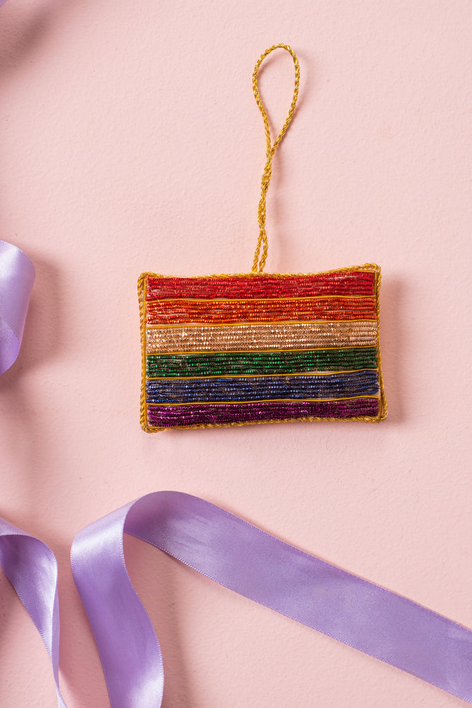 Pride Flag Plastic Free Outer/Recycled Plastic Filled Decoration