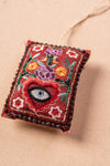 Red Rectangle Embroidered Hanging Ornament