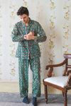 Bayou Hand Block Print Cotton Pyjamas
