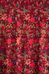 Plum Bird Of Paradise Velvet Fabric by the Metre