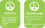 EcoLogo and GreenGuard Gold