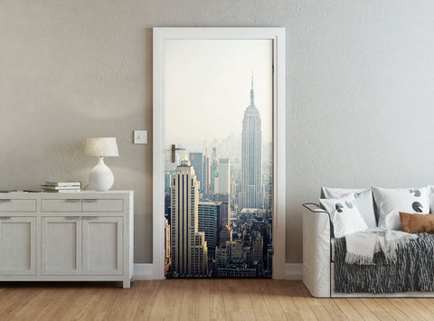 ohpopsi New York Empire State Building And Skyline Accent Wall/Door Mural