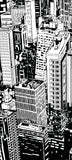 ohpopsi Black And White Urban Cityscape Illustration Accent Wall/Door Mural