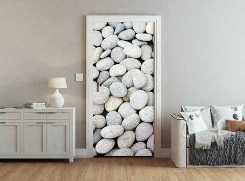 ohpopsi Smooth Grey Pebbles Accent Wall/Door Mural